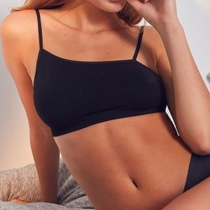 UO Out From Under Black Asymmetrical Bralette